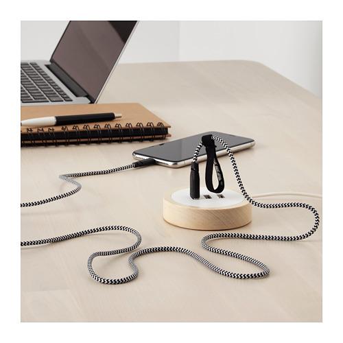 LILLHULT kabel USB dengan lapisan pelindung