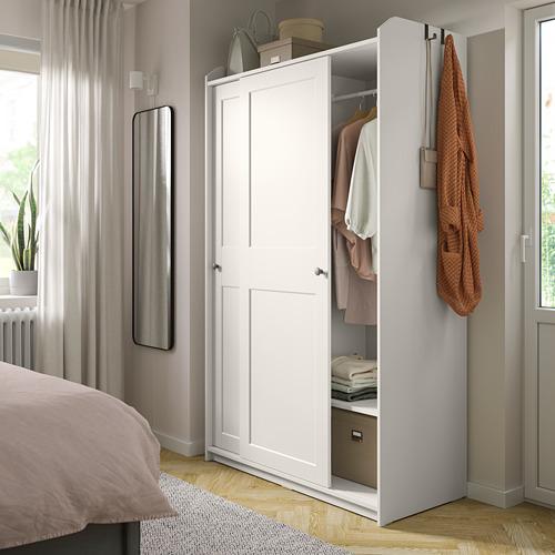 HAUGA wardrobe with sliding doors