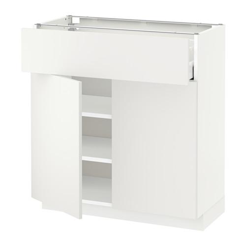 MAXIMERA/METOD kabinet dasar dengan laci/2 pintu