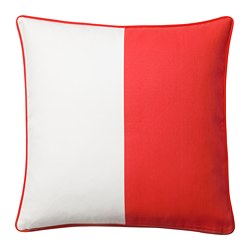 MALINMARIA - Cushion cover, red/white