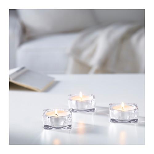 GLIMMA lilin tanpa aroma dalam wadah logam