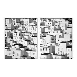 PJÄTTERYD - PJÄTTERYD, gambar, Mountainside village, 40x50 cm