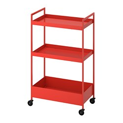 NISSAFORS - Trolley, red-orange