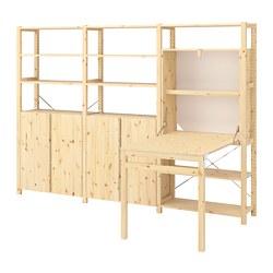 IVAR - Unit rak dg mj/kabinet/rak, kayu pinus