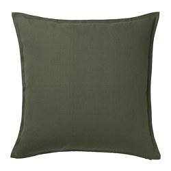 GURLI - Sarung bantal kursi, hijau gelap, 50x50 cm