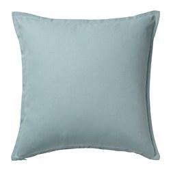 GURLI - Sarung bantal kursi, biru pudar, 50x50 cm