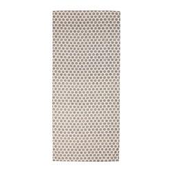 DEKORERA - DEKORERA, taplak meja, berdot alami/abu-abu, 145x240 cm