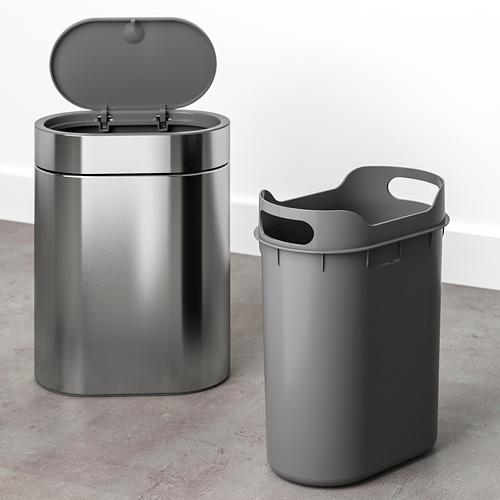 BROGRUND - tempat sampah sentuh tutup, baja tahan karat, 4 l | IKEA Indonesia - PE738906_S4