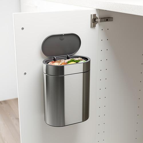 BROGRUND - tempat sampah sentuh tutup, baja tahan karat, 4 l | IKEA Indonesia - PE738909_S4