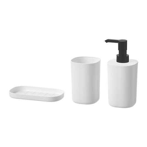 STORAVAN perlengkapan mandi, set isi 3