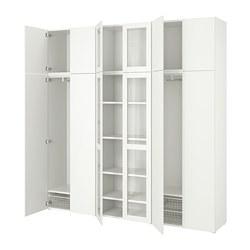 PLATSA - Kombinasi penyimpanan dg 12 pintu, putih/Fonnes Värd
