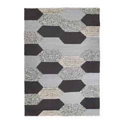 KOLLUND - Karpet, anyaman datar, buatan tangan abu-abu
