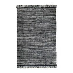 KÖPENHAMN - Karpet, anyaman datar, buatan tangan abu-abu tua