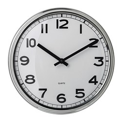 PUGG - Wall clock, stainless steel