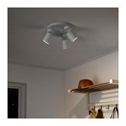 NYMÅNE - Lampu sorot plafon dg 3 tempat, putih