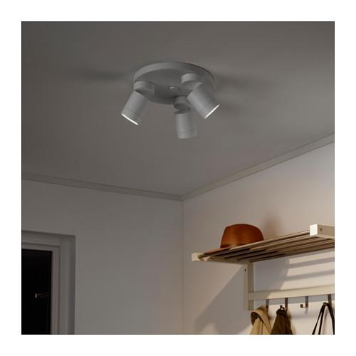 NYMÅNE lampu sorot plafon dg 3 tempat