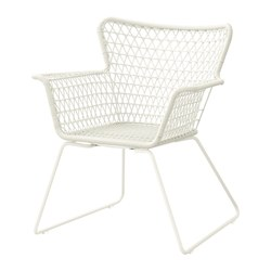 HÖGSTEN - Chair with armrests, outdoor, white