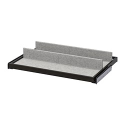KOMPLEMENT - Pull-out tray with shoe insert, black-brown/light grey