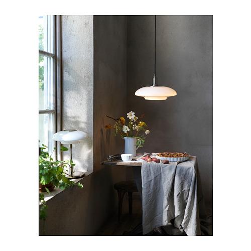 TÄLLBYN - lampu gantung, dilapisi nikel/putih opal kaca, 40 cm   IKEA Indonesia - PH167591_S4