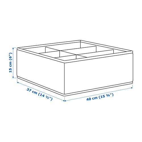 STORSTABBE kotak dengan kompartemen