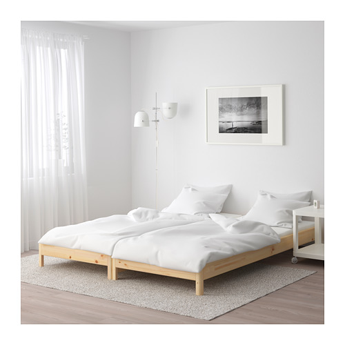 UTÅKER stackable bed with 2 mattresses