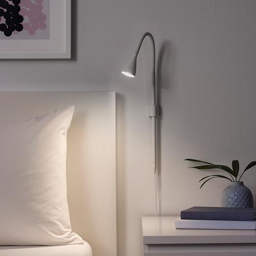 NÄVLINGE lampu sorot dinding/jepit LED