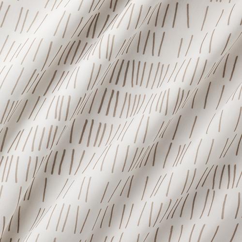 KLÖVERALM - curtains, 1 pair, white/beige, 145x250 cm | IKEA Indonesia - PE792439_S4