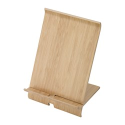 SIGFINN - Holder for mobile phone, bamboo veneer