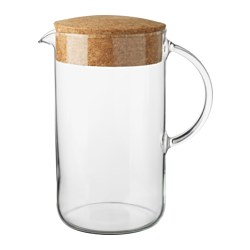 IKEA 365+ - Jug with lid, clear glass/cork