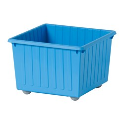 VESSLA - Storage crate with castors, blue