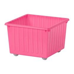 VESSLA - Penyimpanan dengan roda, merah muda terang