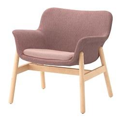 VEDBO - VEDBO, armchair, Gunnared light brown-pink