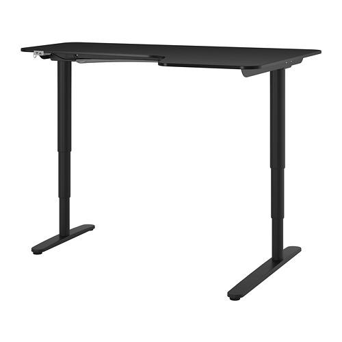 BEKANT corner desk right sit/stand