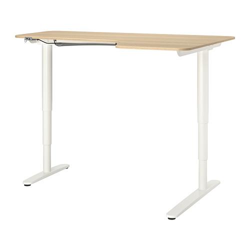 BEKANT meja sudut kanan duduk/berdiri