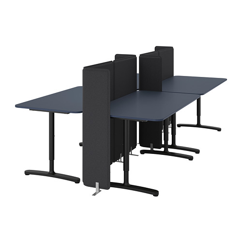 BEKANT meja dengan penyekat