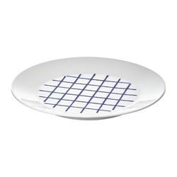 SPORADISK - Plate, white/blue