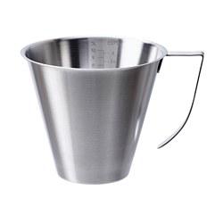 IDEALISK - Cangkir ukur, ukur/baja tahan karat, 1 l