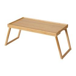 RESGODS - Nampan lipat tempat tidur, bambu