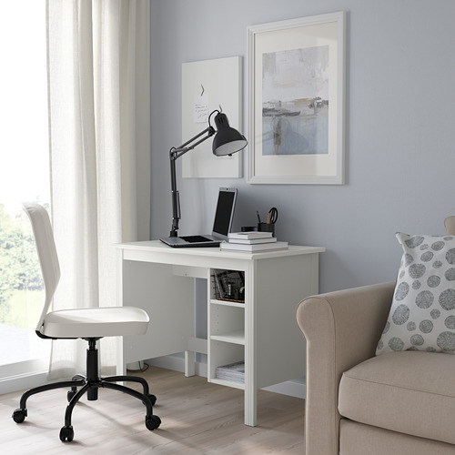 BRUSALI - meja, putih, 90x52 cm | IKEA Indonesia - PE778404_S4