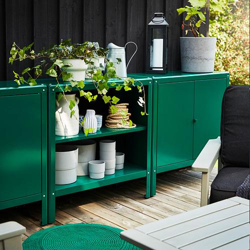 KOLBJÖRN - unit rak dalam/luar ruang, hijau, 80x81 cm | IKEA Indonesia - PH166324_S4