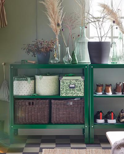 KOLBJÖRN - unit rak dalam/luar ruang, hijau, 80x81 cm | IKEA Indonesia - PH168223_S4