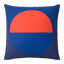 MAJALOTTA - Sarung bantal kursi, biru/oranye terang