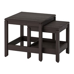 HAVSTA - Nest of tables, set of 2, dark brown
