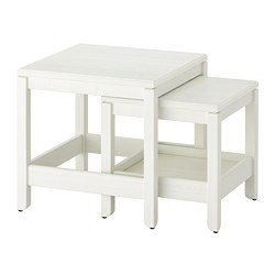 HAVSTA - Nest of tables, set of 2, white
