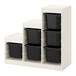 TROFAST - Kombinasi penyimpanan, putih/hitam