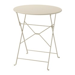 SALTHOLMEN - Table, outdoor, foldable beige