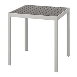 SJÄLLAND - Table, outdoor, dark grey/light grey