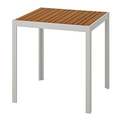 SJÄLLAND - Table, outdoor, light brown/light grey
