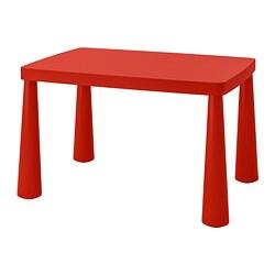 MAMMUT - Meja anak, dalam/luar ruang merah, 77x55 cm