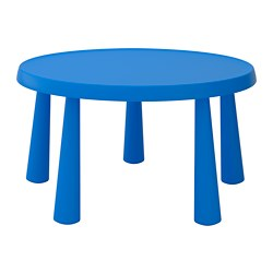 MAMMUT - Meja anak, dalam/luar ruang biru
